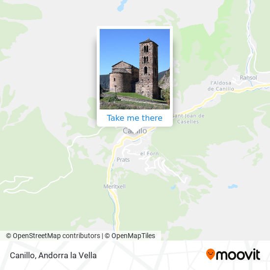 Canillo map