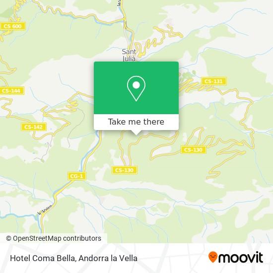 Hotel Coma Bella map