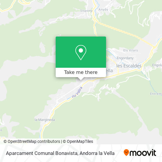 Aparcament Comunal Bonavista map