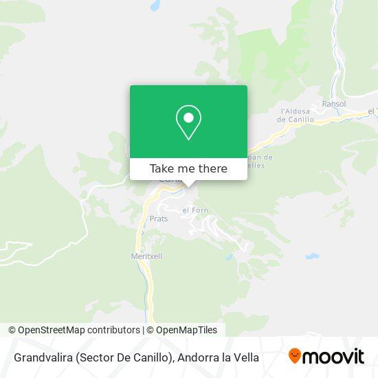 Grandvalira (Sector De Canillo) map