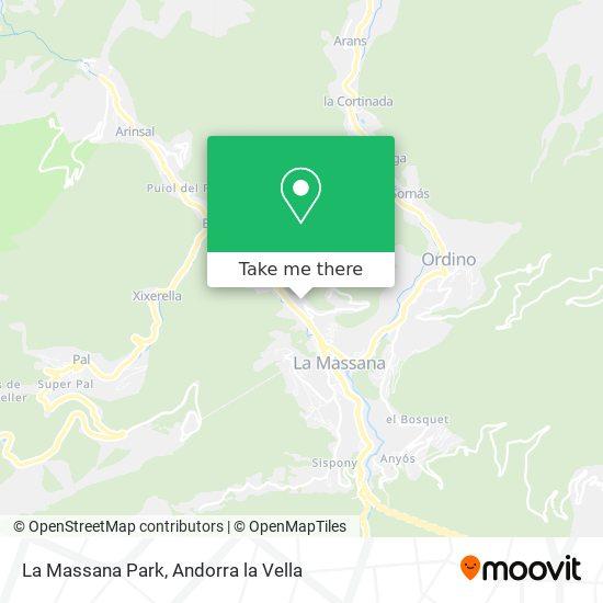 La Massana Park map