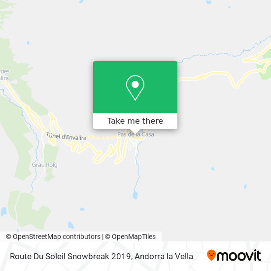 Route Du Soleil Snowbreak 2019 map