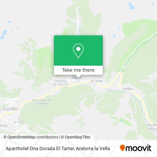 Aparthotel Ona Dorada El Tarter map
