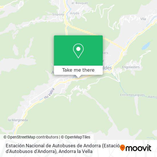 Estación Nacional de Autobuses de Andorra (Estació d'Autobusos d'Andorra) map