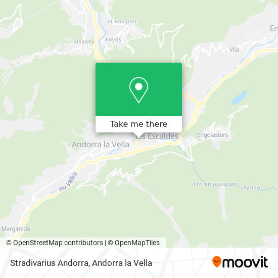Stradivarius Andorra map
