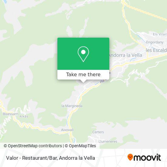 Valor - Restaurant/Bar map