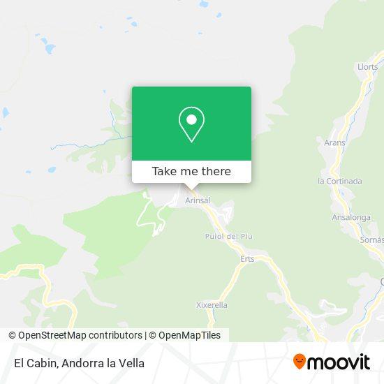 El Cabin map