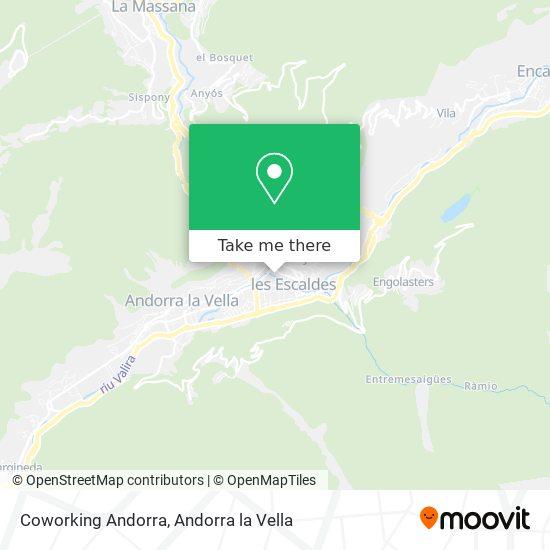Coworking Andorra map