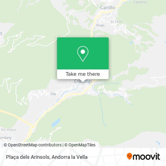 Plaça dels Arínsols map