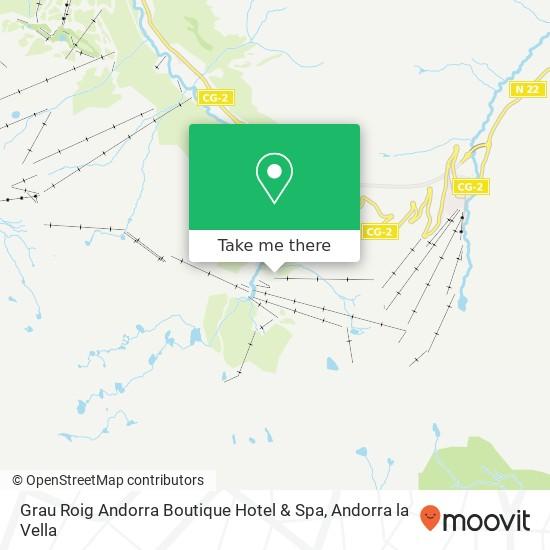 Grau Roig Andorra Boutique Hotel & Spa map