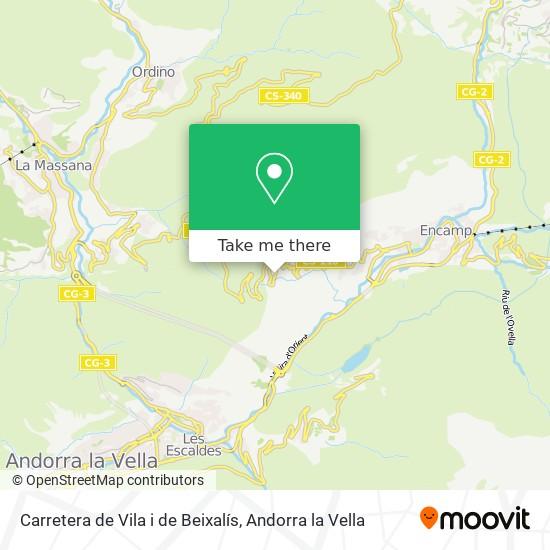 Carretera de Vila i de Beixalís map
