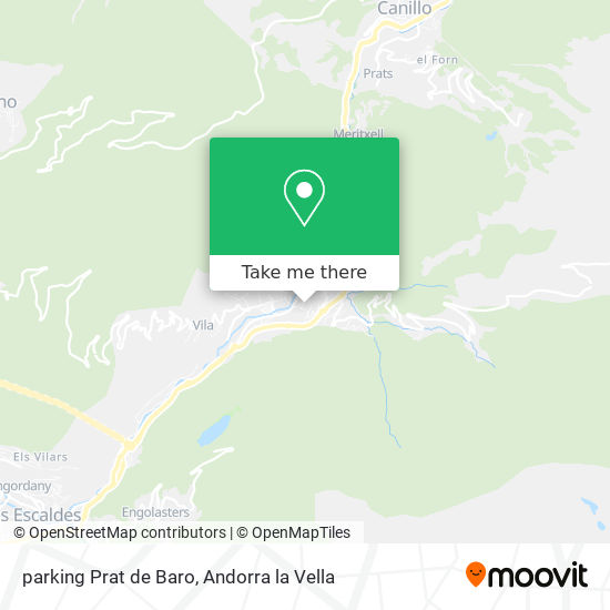 parking Prat de Baro map