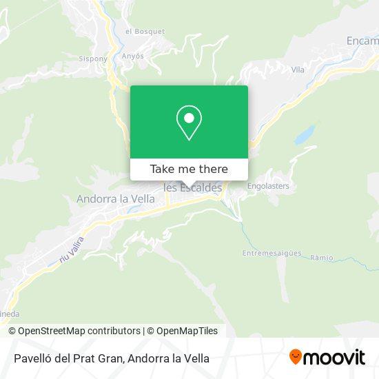 Pavelló del Prat Gran map