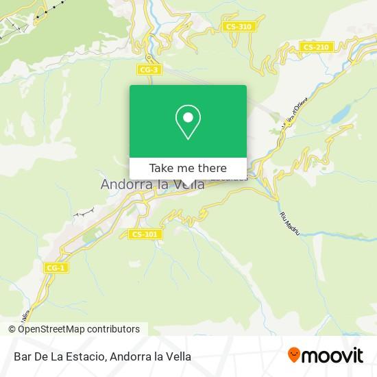 Bar De La Estacio map