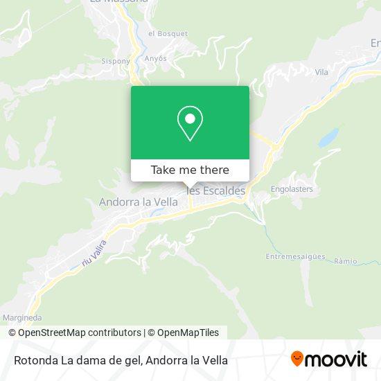 Rotonda La dama de gel map