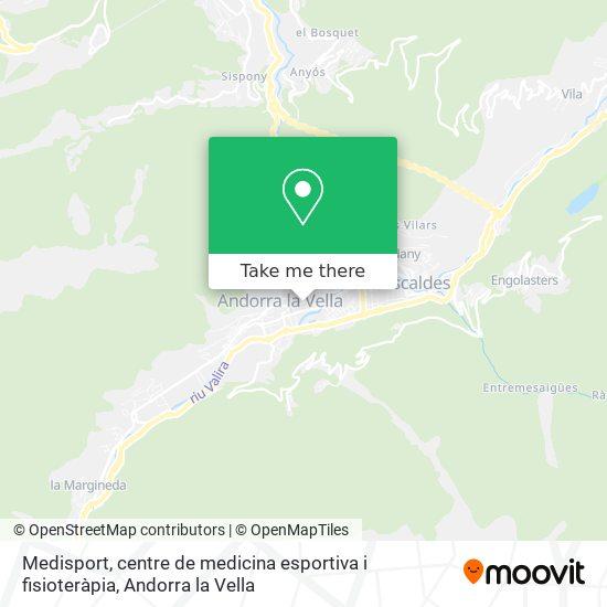 Medisport, centre de medicina esportiva i fisioteràpia map