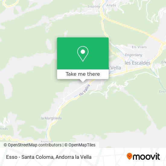 Esso - Santa Coloma map
