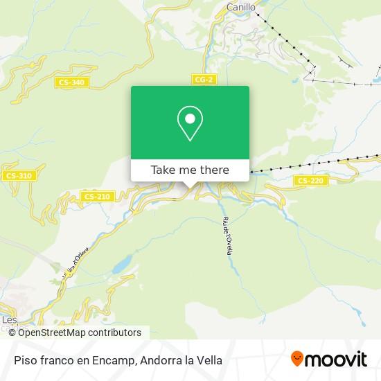 Piso franco en Encamp map