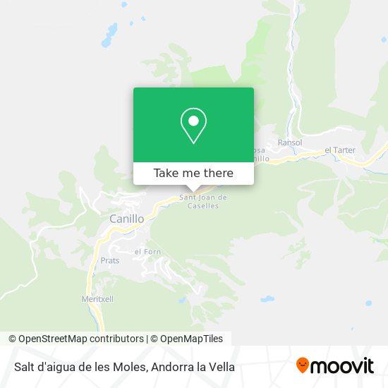 Salt d'aigua de les Moles map