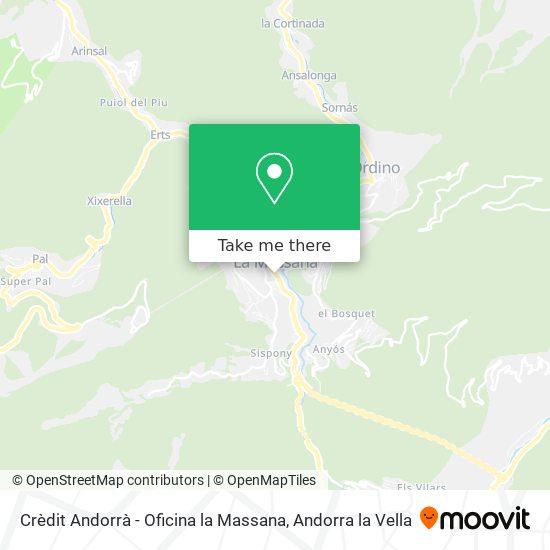 Crèdit Andorrà - Oficina la Massana map