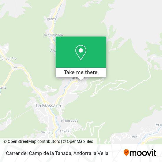 Carrer del Camp de la Tanada map