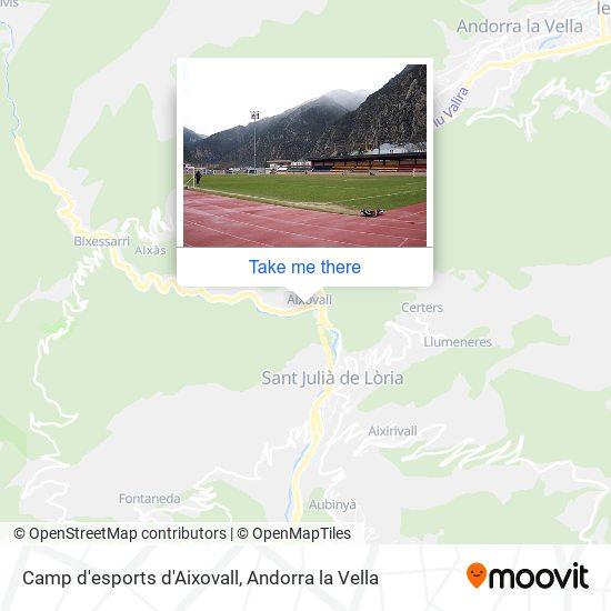 Camp d'esports d'Aixovall map