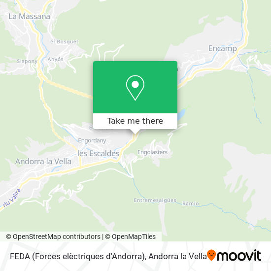 FEDA (Forces elèctriques d'Andorra) map