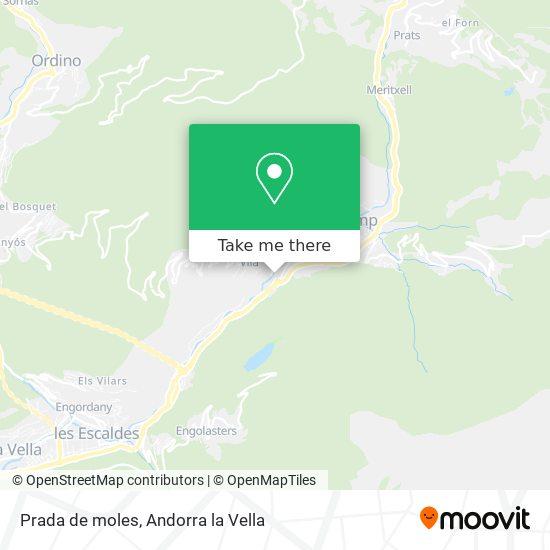Prada de moles map