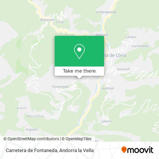 Carretera de Fontaneda map
