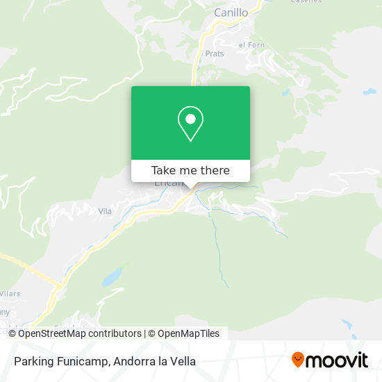 Parking Funicamp map