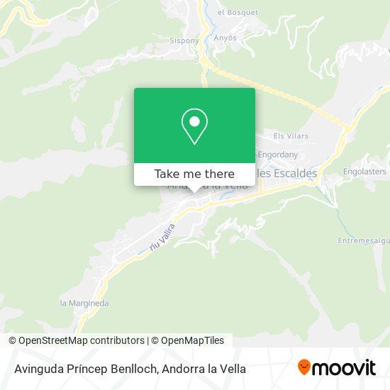 Avinguda Príncep Benlloch map