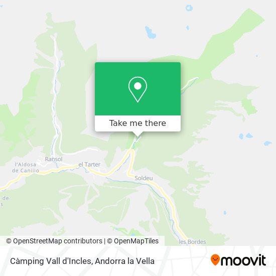 Càmping Vall d'Incles map