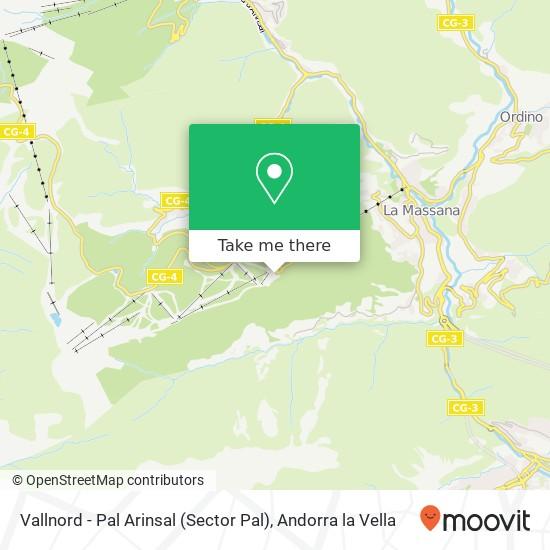 Vallnord - Pal Arinsal (Sector Pal) map