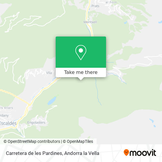 Carretera de les Pardines map