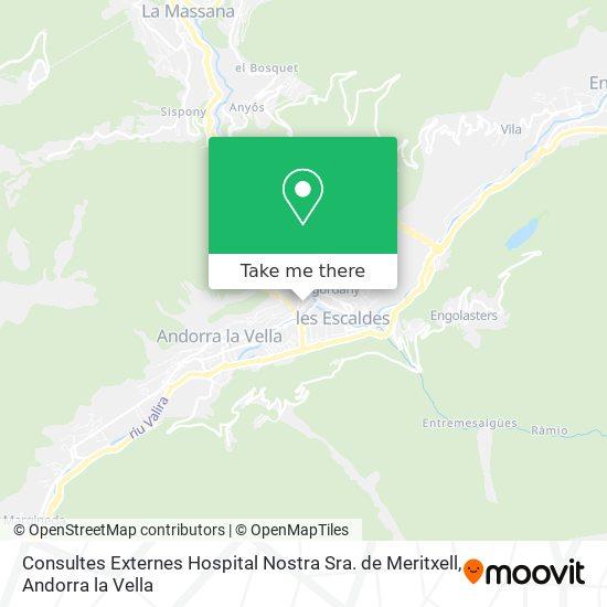Consultes Externes Hospital Nostra Sra. de Meritxell map