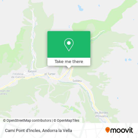 Camí Pont d'Incles map