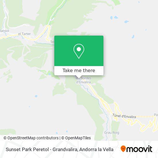 Sunset Park Peretol - Grandvalira map