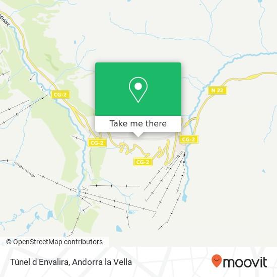 Túnel d'Envalira map