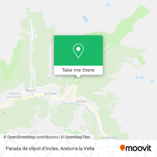 Parada de clípol d'Incles map