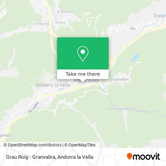 Grau Roig - Granvalira map
