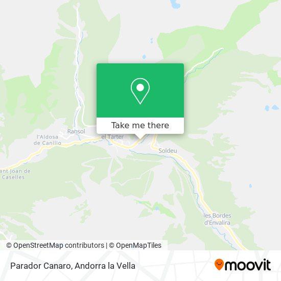 Parador Canaro map