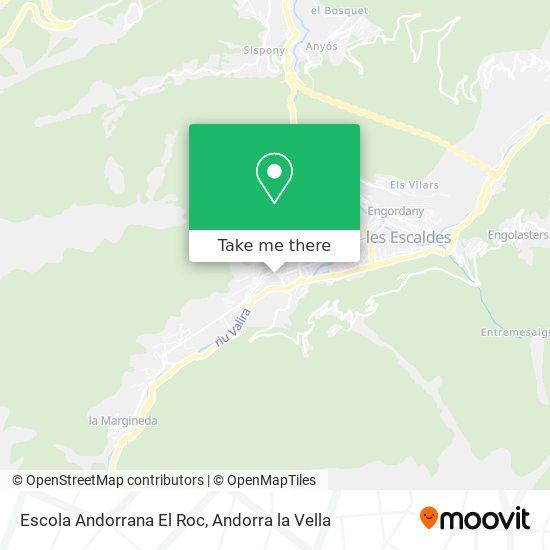Escola Andorrana El Roc map