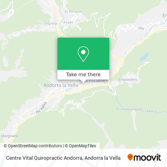 Centre Vital Quiropractic Andorra map