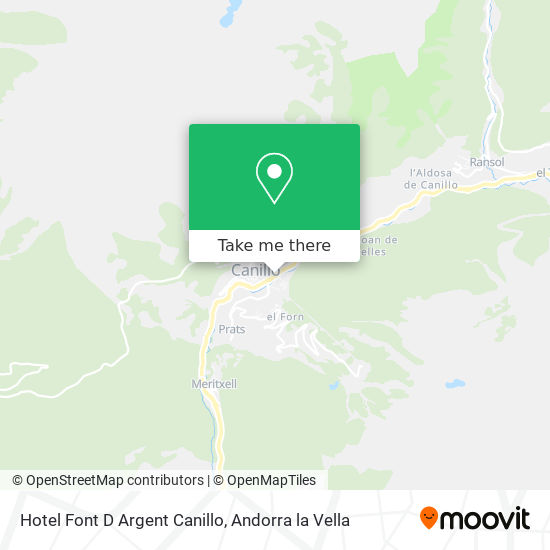 Hotel Font D Argent Canillo map