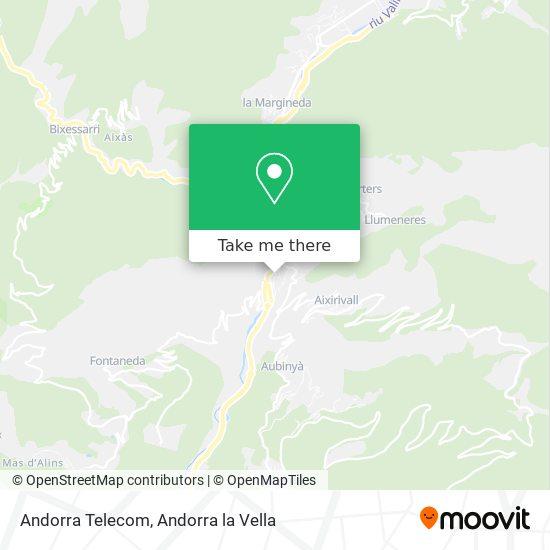 Andorra Telecom map