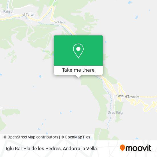 Iglu Bar Pla de les Pedres map