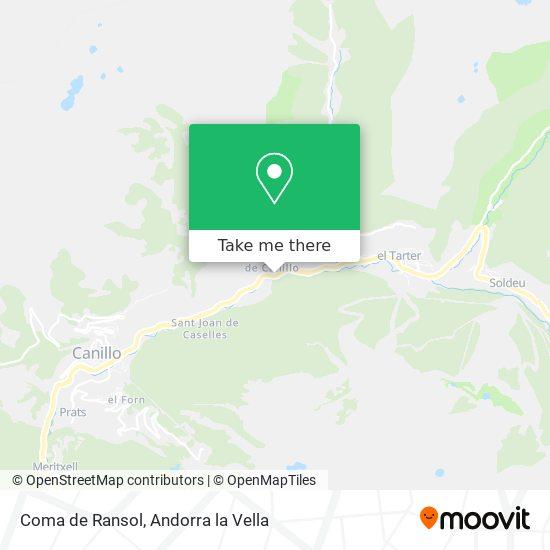 Coma de Ransol map