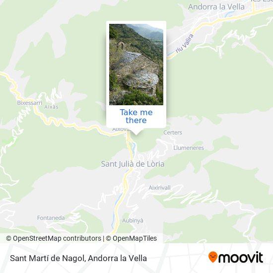Sant Martí de Nagol map