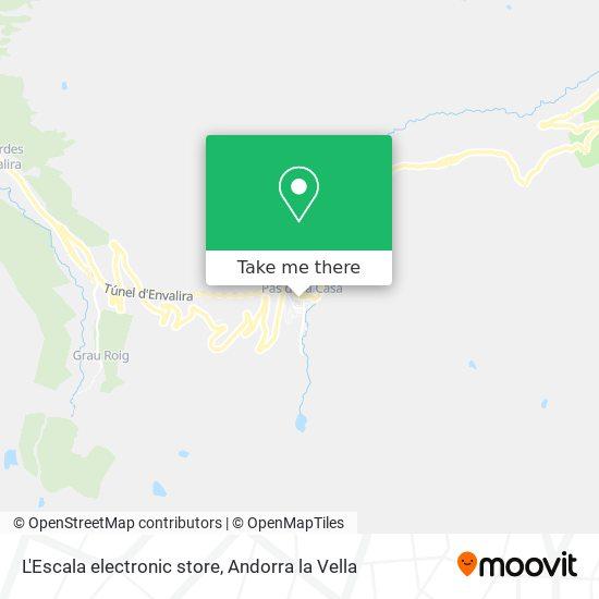 L'Escala electronic store map