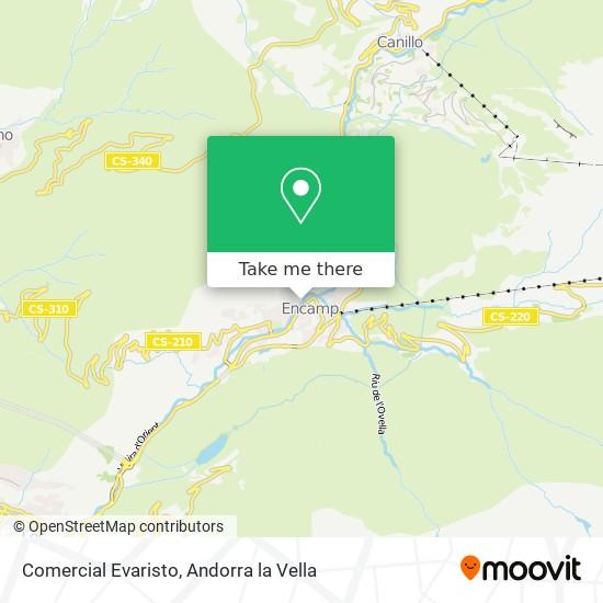 Comercial Evaristo map